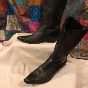 Boots, Cowboy style, Blk, sz 8, Matisse